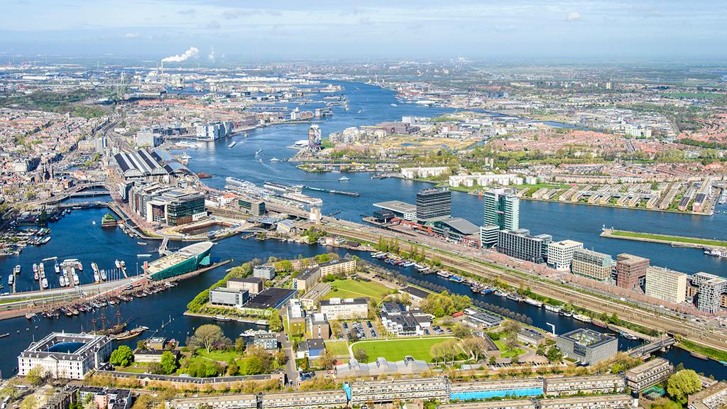 Luchtfoto, 2014, Marineterrein Amsterdam - foto: Siebe Swart