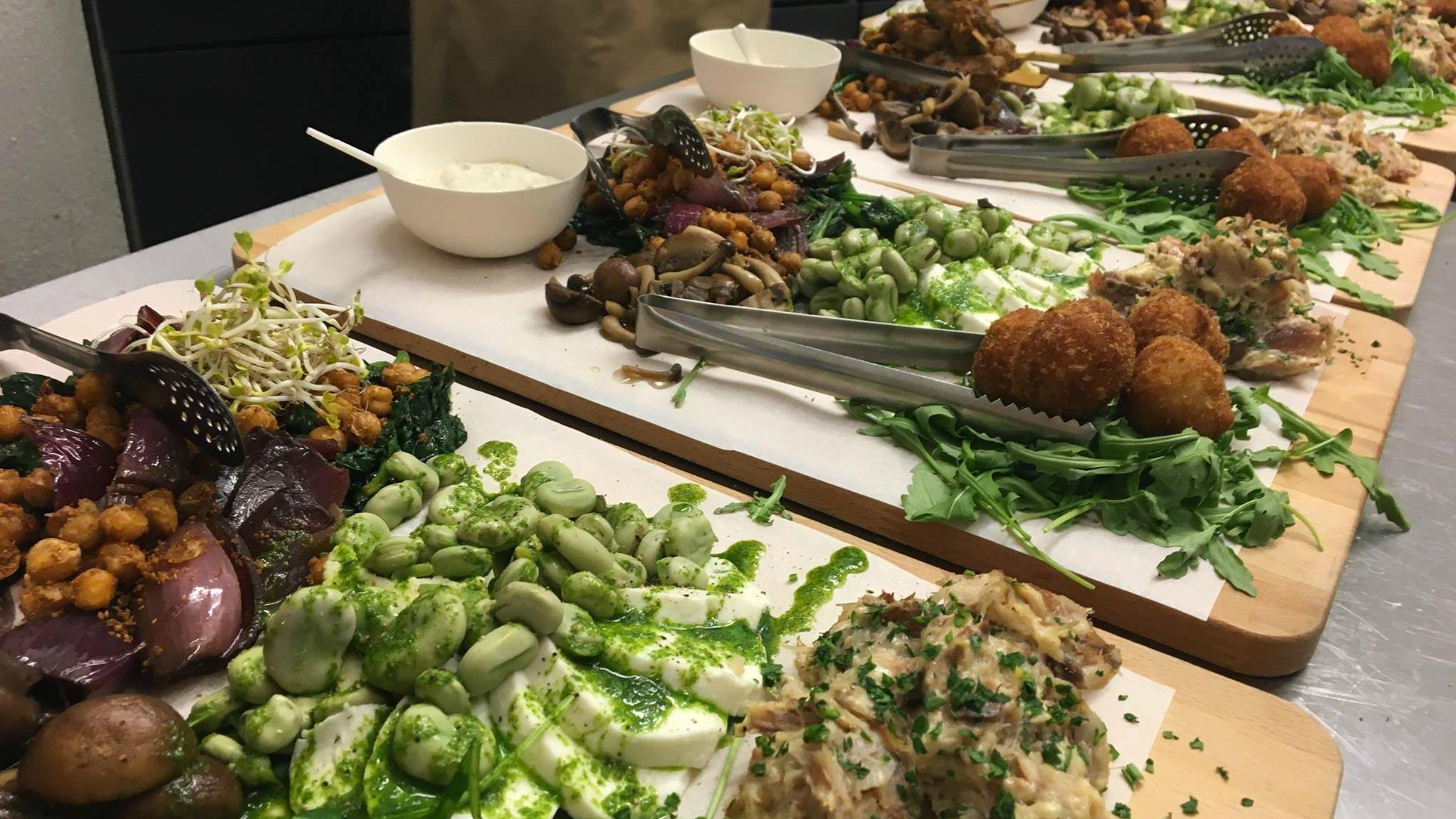 mooie gerechten van de catering